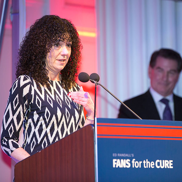 Prostate cancer survivor, Karen Shaffer