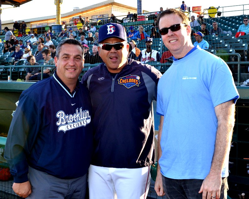 Brooklyn Cyclones' manager and staff with Dr. Anthony Corcoran