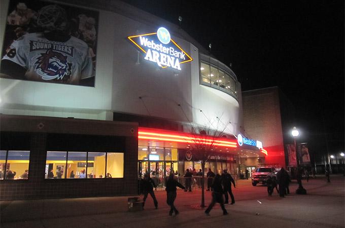 Webster Bank Arena, home of the Bridgeport Sound Tigers