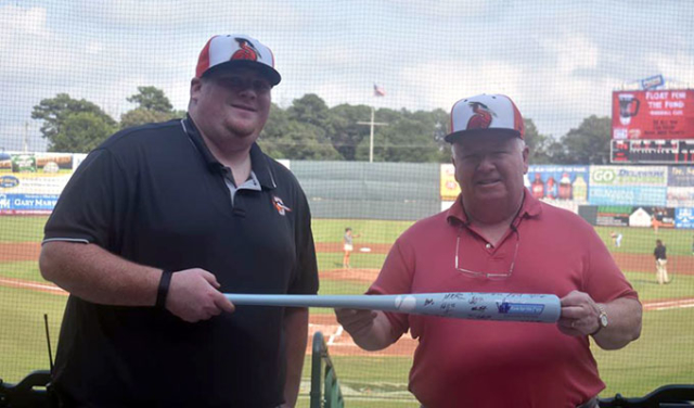 Fans winning our Baseball Road Trip signed bat