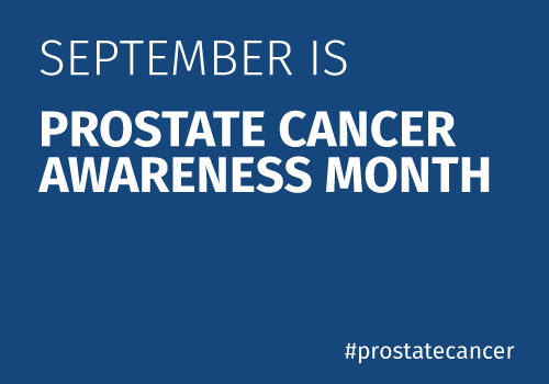 September is prostate cancer awareness month