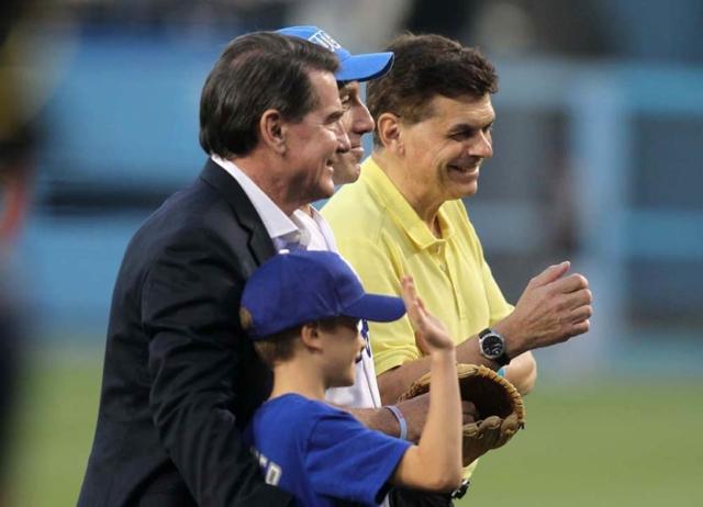 Steve Garvey and Ed Randall hold a prostate cancer awareness event at Dodger Stadium
