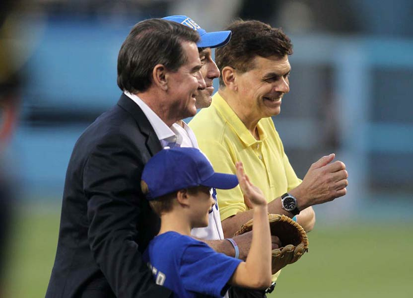 Steve Garvey and Ed Randall hold a prostate cancer awareness event at Dodger Stadium