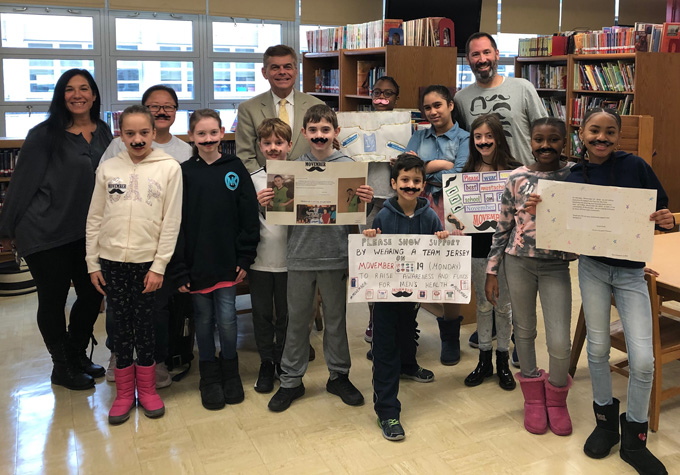 Ed Randall with Student Council at PS 312