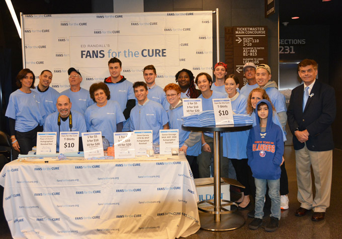 Fans for the Cure volunteers at the NY Islanders event