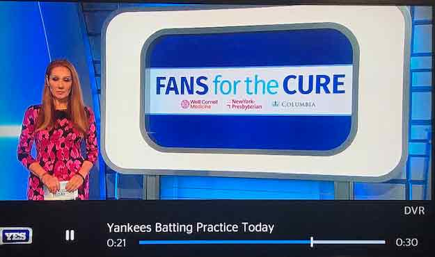 NY Yankees support virtual prostate cancer screening