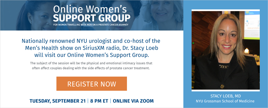 Dr Stacy Loeb to visit the Online Women's Support Group