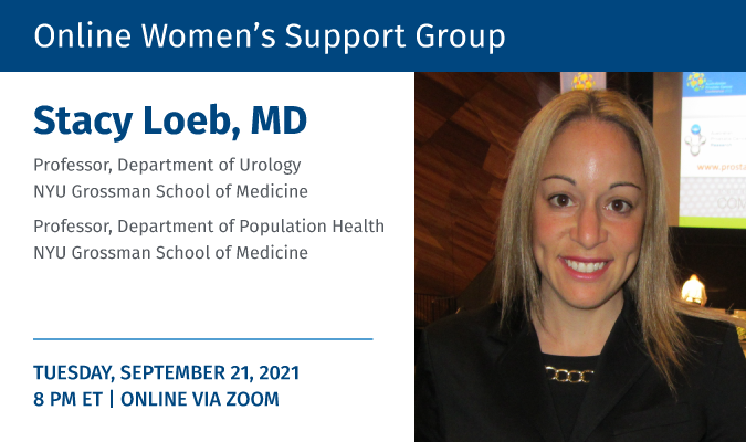 Dr Stacy Loeb to attend the September meeting of the Fans for the Cure's Online Women's Support Group